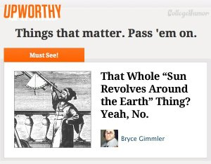 Upworthy - Things that matter. Pass 'em on.